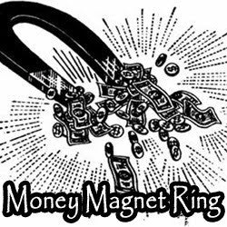 Money Magnet Voodoo Spell Blood Ore Ring