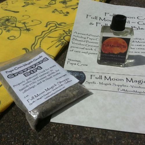 Full Moon Voodoo Cast Oil Spell Kit