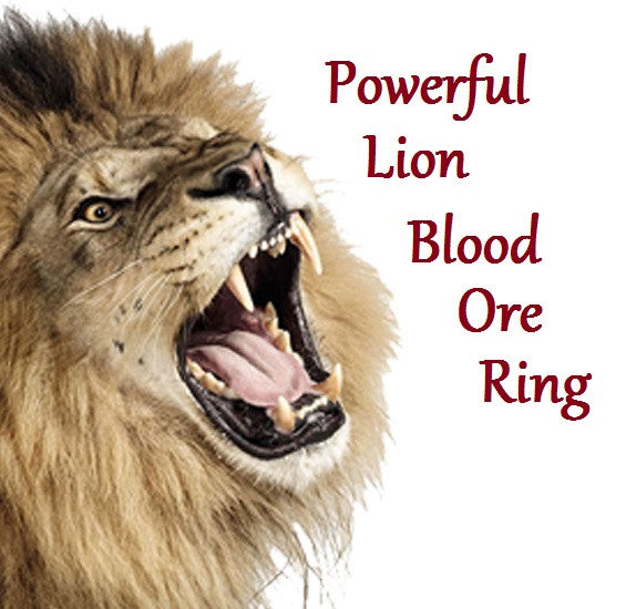 Powerful Lion Blood Ore Ring