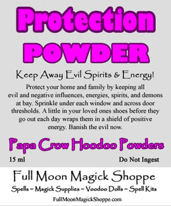 Protection Hoodoo Powder banishes negative entities and evil energies from your home and loved ones lives.