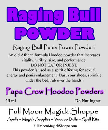 Raging Bull Powder is a Hoodoo secret for a larger penis, enhanced sex performance, and great ability in bed.