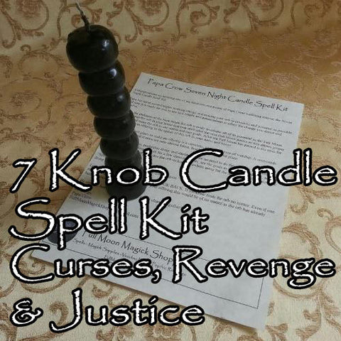 Seven Knob Voodoo Candle Curse Spell Kit
