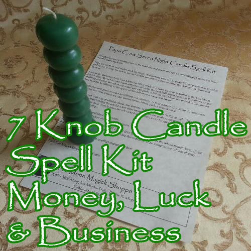 Seven Knob Voodoo Candle Money Spell Kit