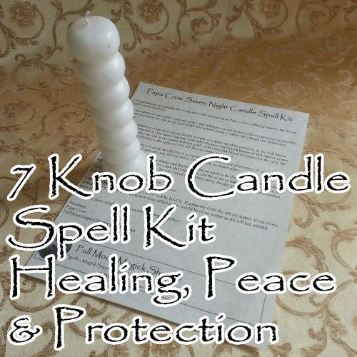 Seven Knob Voodoo Candle Blessings Spell Kit