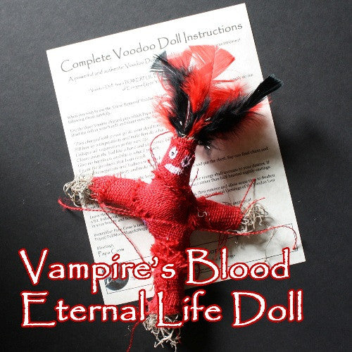 Vampires Blood Eternal Life Voodoo Doll