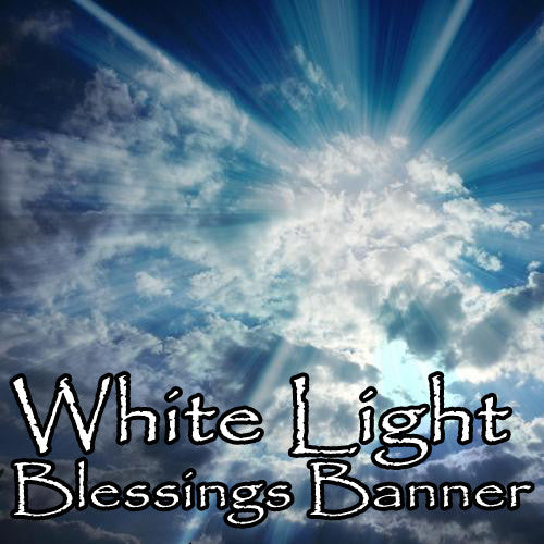 White Light Voodoo Blessings Banner