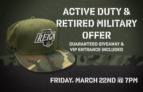 Active Duty & Retired Military Offer