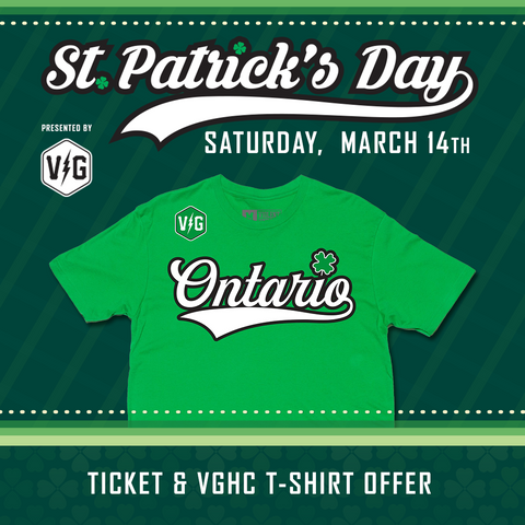 St. Patrick's Day T-Shirt & Ticket - Saturday, March 14th