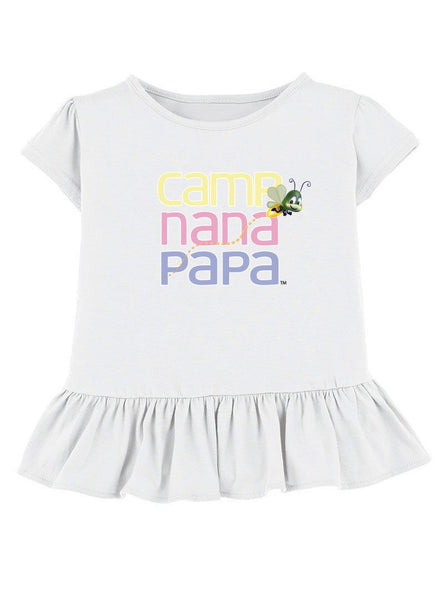 Ruffled Camp Nana Papa™ Tees featuring Flash-the-Firefly™