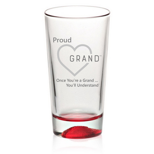 Proud Grand-Heart™ - Glass Tumbler