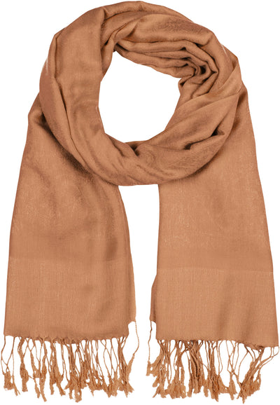 "group-Camel Brown (Sakkas 70"" x 28"" Paisley Self-Design Pashmina Shawl / Wrap / Stole)"