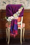 "group-Purple Fuchsia (Sakkas 70"" x 28"" Paisley Self-Design Pashmina Shawl / Wrap / Stole)"