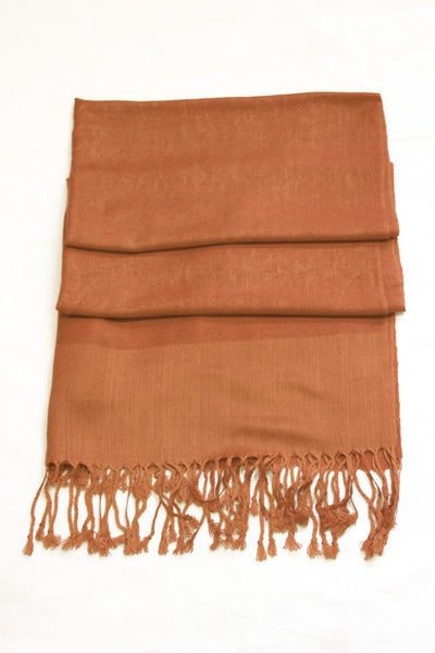 "group-Brown (Sakkas 70"" x 28"" Paisley Self-Design Pashmina Shawl / Wrap / Stole)"