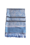 "group-Grey Blue (Sakkas 70"" x 28"" Paisley Self-Design Pashmina Shawl / Wrap / Stole)"