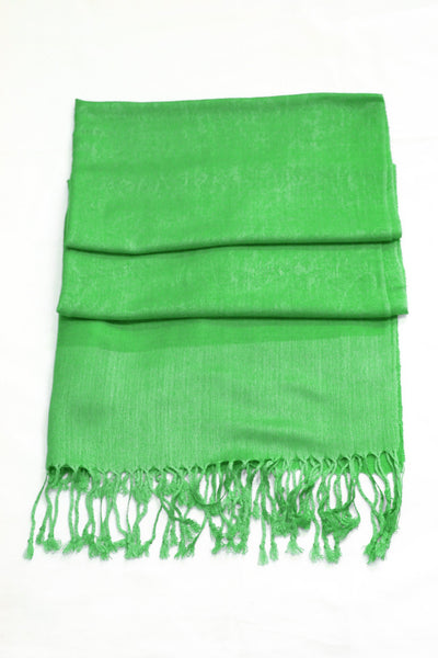 "group-Green (Sakkas 70"" x 28"" Paisley Self-Design Pashmina Shawl / Wrap / Stole)"
