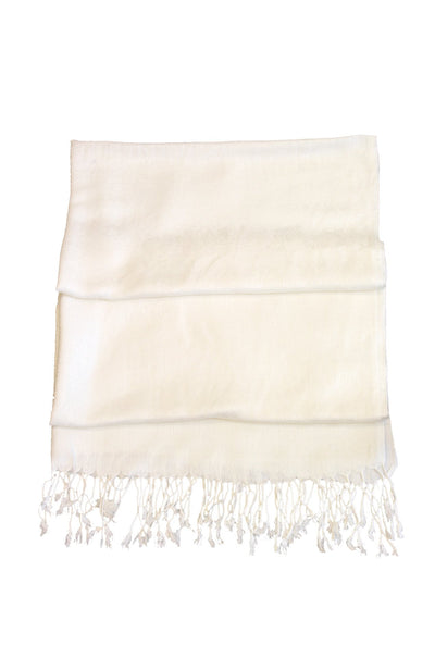 "group-Ivory (Sakkas 70"" x 28"" Paisley Self-Design Pashmina Shawl / Wrap / Stole)"