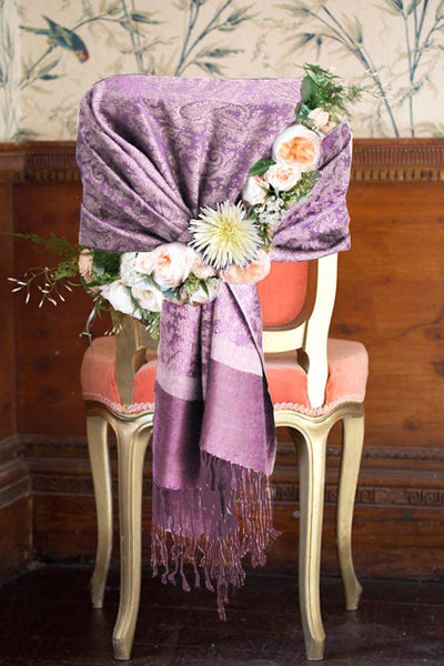 "group-Lavender / Purple (Sakkas 70"" x 28"" Paisley Self-Design Pashmina Shawl / Wrap / Stole)"