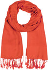 "group-Orange (Sakkas 70"" x 28"" Paisley Self-Design Pashmina Shawl / Wrap / Stole)"