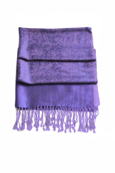 "group-Violet (Sakkas 70"" x 28"" Paisley Self-Design Pashmina Shawl / Wrap / Stole)"