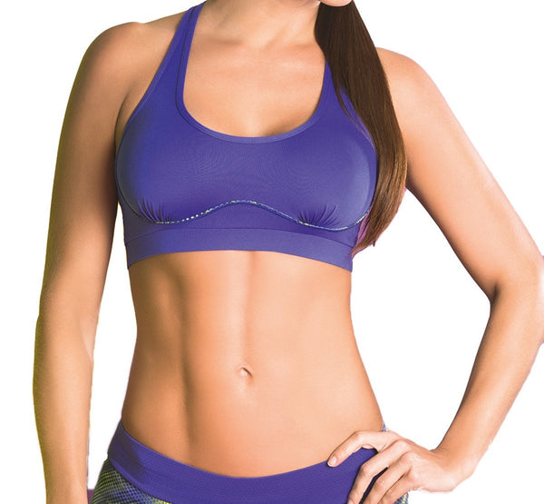 Sakkas Designer Activewear - Claudia Full Support Racerback Sports Bra