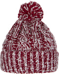 Sakkas Dante Warm Unisex Pom-pom Ribbed Knit Beanie Simple and Casual#color_YCCADK1519-Burgundy
