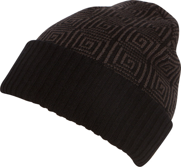 Sakkas Lucien Pattern Knit Cap Beanie Hat Warm Light Unisex#color_1759-black