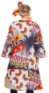Sakkas Praya Women's Long Sleeve Open Front Cardigan Dress Coat African Ankara
