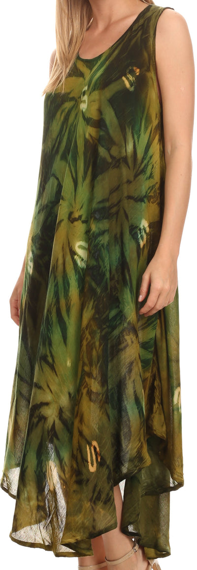 group-Forest Green (Sakkas Starlight Caftan Tank Dress / Cover Up)