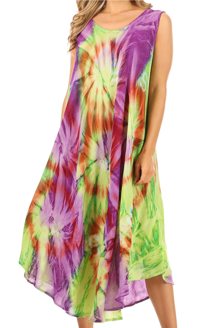 group-Green / Purple (Sakkas Starlight Caftan Tank Dress / Cover Up)