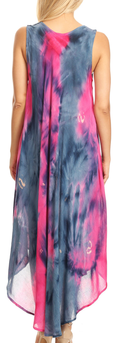 group-Pink / Navy (Sakkas Starlight Caftan Tank Dress / Cover Up)