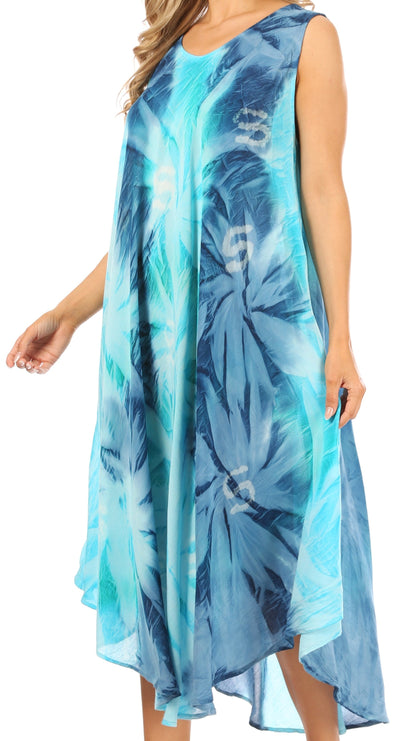 group-Turquoise / Blue (Sakkas Starlight Caftan Tank Dress / Cover Up)