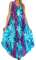 Sakkas Starlight Caftan Tank Dress / Cover Up#color_Turquoise / Purple