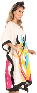 Sakkas Trina Women's Casual Loose Beach Poncho Caftan Dress Cover-up Many Print