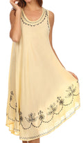 Sakkas Everyday Essentials Caftan Tank Dress / Cover Up#color_Butter Yellow