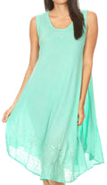 Sakkas Everyday Essentials Caftan Tank Dress / Cover Up#color_Mint