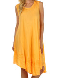 Sakkas Everyday Essentials Caftan Tank Dress / Cover Up#color_Orange
