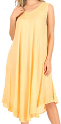 Sakkas Everyday Essentials Caftan Tank Dress / Cover Up#color_Orange Cream