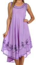 Sakkas Everyday Essentials Caftan Tank Dress / Cover Up#color_Purple / Black