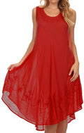 Sakkas Everyday Essentials Caftan Tank Dress / Cover Up#color_Red