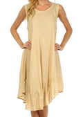 Sakkas Everyday Essentials Caftan Tank Dress / Cover Up#color_Sand