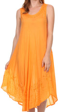 Sakkas Everyday Essentials Caftan Tank Dress / Cover Up#color_Tangerine