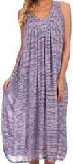 Sakkas Adele Sequin Embroidered Scoop Neck Sleeveless Dress / Cover Up