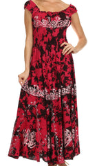 Sakkas Jamilah Gypsy Boho Peasant Batik Dress