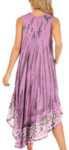 group-Purple (Sakkas Alexis Embroidered Long Sleeveless Floral Caftan Dress / Cover Up)