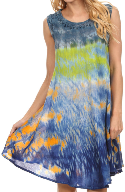 Sakkas Nora Tie Dye Maxi Dress