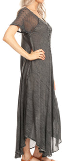 Sakkas Helena Embroidered Nightgown / Women Sleepwear with Eyelet Sleeves