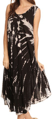 Sakkas Eula Boho Sleeveless Tie Dye Long Tank Caftan Sundress / Beach Cover Up