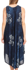 group-Navy (Sakkas Maddalena Summer Casual Relax fit Tank Dress Tie dye with Batik )