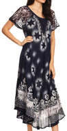 group-Navy White (Sakkas Marga Women Maxi Summer Caftan Swimsuit Beach Cover Up Dress with Lace)
