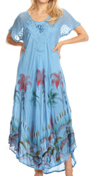 Sakkas Irem Women  Everyday Caftan Long Dress Kaftan with Corset and Lace Sleeves
